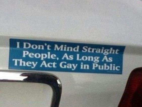 I don't mind straight people, as long as they act gay in public #lesbian