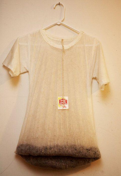 Tea-shirt - funny tea bag art