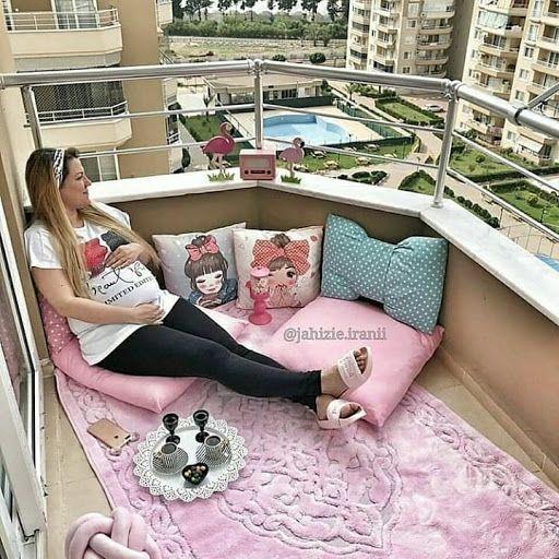 افكار لتزيين شرفة منزلك البلكونة حوليها الى غرفة للراحة Home Deco Toddler Bed Furniture