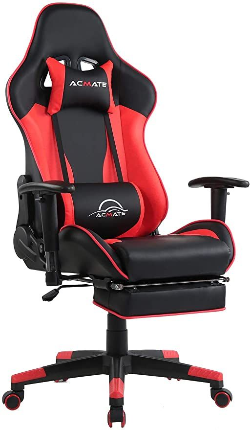 Acmate Massage Gaming Chair Ergonomic Computer Chair With Footrest Reclining Computer Gaming Chair Racing S In 2020 Gamer Chair Ergonomic Computer Chair Computer Chair