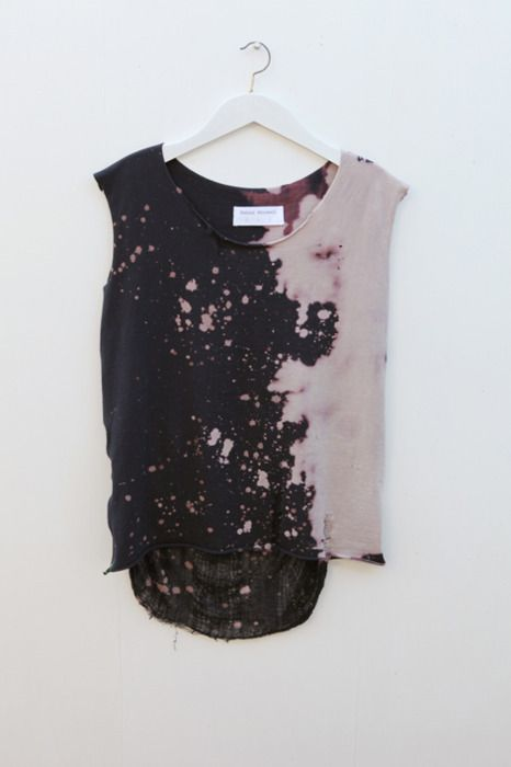 AD+SH DIY Fashion Blog: DIY Inspiration - Bleached Clothing #grunge
