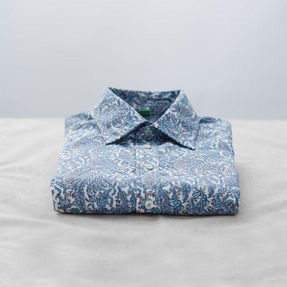 Paisley button-front shirt