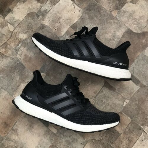 adidas ultra boost 2.0 Black White Size 9.5 Men's Excellent