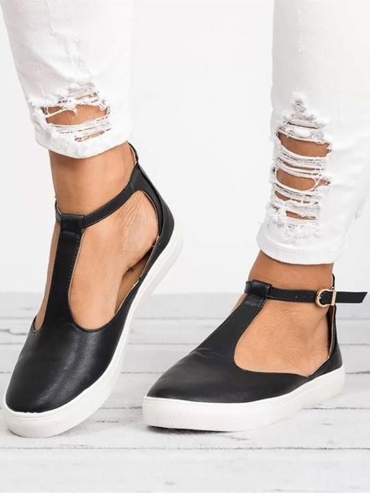 Boho Summer Casual Beach PU Flats Womens Flat Sandals Elastic Band Low Heels 0.8 Round Toe Outdoor Shoes