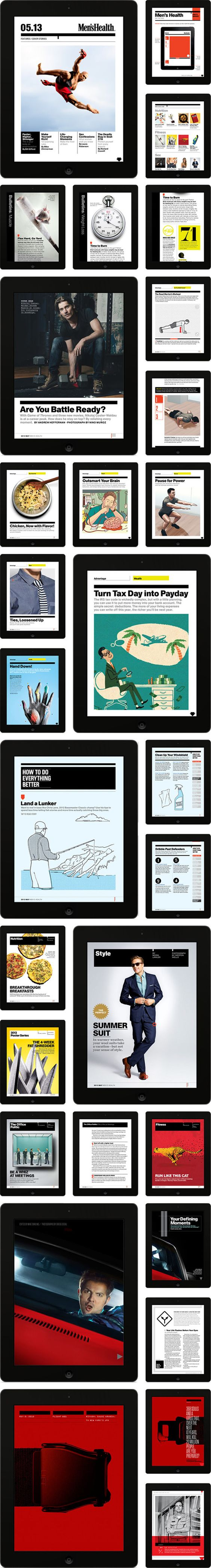 Men's Health iPad by Chris Carbo, via Behance. For more details visit http://mobilewebmds.com/mobile-apps/