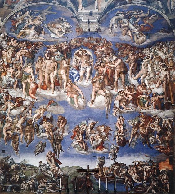 Last Judgment, Sistine Chapel, Rome, Italy