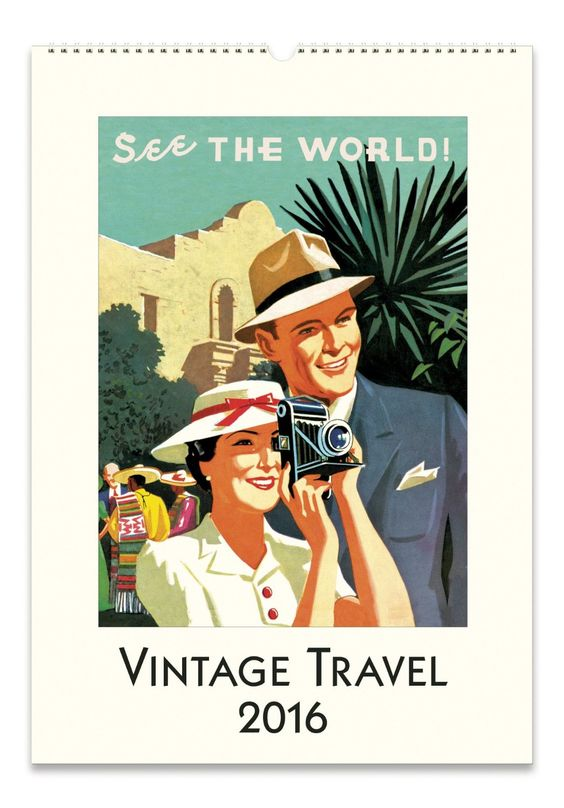 AmazonSmile - Cavallini Papers & Co CAL16-23 2016 Vintage Travel Wall Calendar -