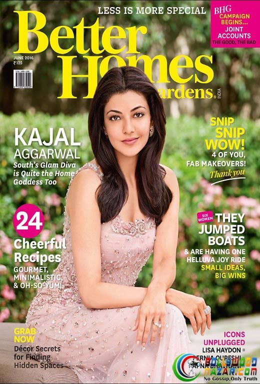 Lovely Kajal Aggarwal On The Cover Of Better Homes And Gardens