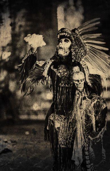Cannibal jaguar knight of the Kukulkan Cult army in the Yucatan.