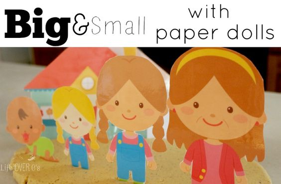 Big and Small with Paper Dolls