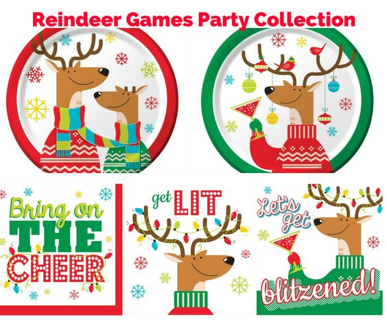 Reindeer Games Party Banner