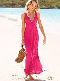 Plunging Maxi Cover-up