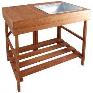 potting bench w/sink idea