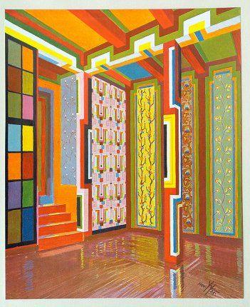 Exhibition space wallpapers 1921 - Wenzel Hablik
