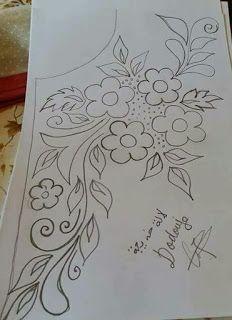 رشمات الطرز والتنبات أجمل الرسومات Rachmat Tarz 2018 Handwork Embroidery Design Embroidery Designs Floral Embroidery Patterns