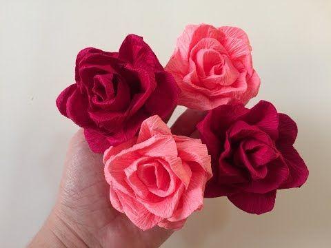 Flor De Papel Crepom Como Fazer Rosa De Papel Cantinho