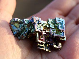 Висмут, кристалл коллекционный (47*30*20 мм, 34 г) №5133