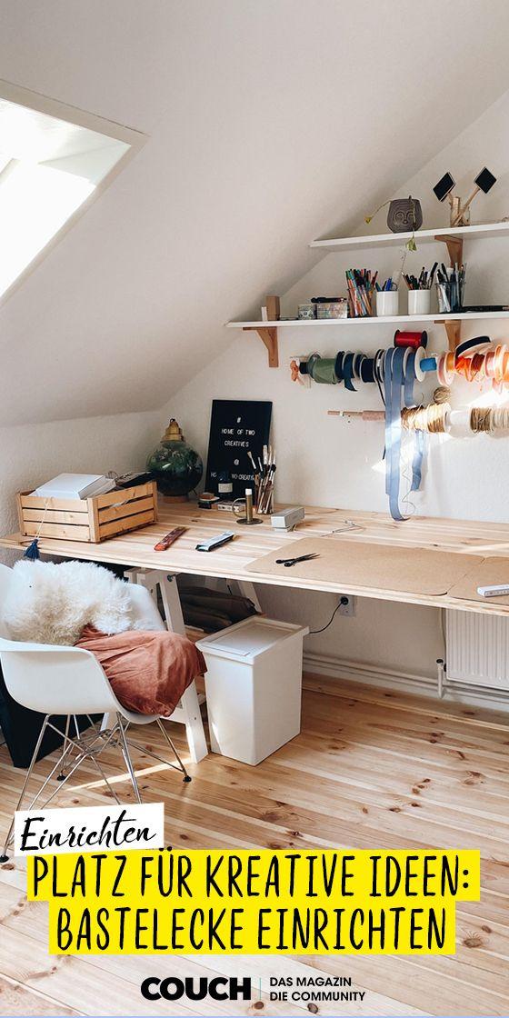 Bastelecke Bilder Ideen In 2020 Bastelecke Einrichten Bastel Ecke Arbeitszimmer Einrichten