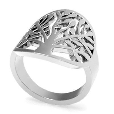 Size 5-11 Stainless Steel Ring Tree of Life Leaf Garden Mother Christmas Gift  https://t.co/Po0OzDwZPf https://t.co/x8meHag7Bp