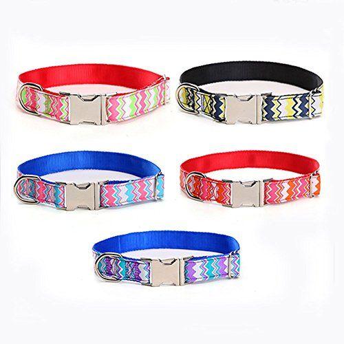 $7.59 Glow Castle Classic dog collar medium neoprene pad dog collar dog collar wave pattern