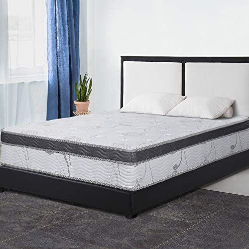 Primasleep 12 Inch Multi Layered Hybrid Euro Box Top Spring Mattress Non Weaving Innerspring Full Mattress Springs Mattress Layered Mattress