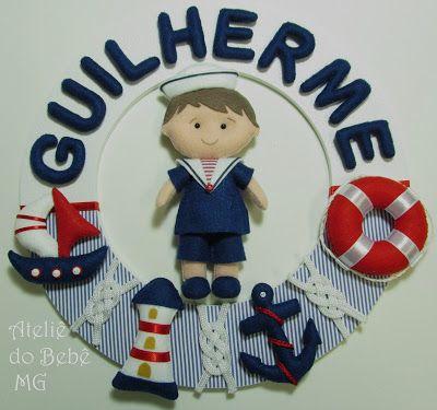 Ateliê do Bebê MG: Guirlanda Menino Marinheiro ( Guilherme )