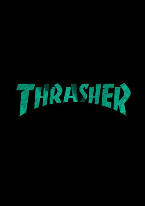 緑色文字のスラッシャーのロゴ