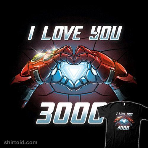 Marvel Girls Avengers Endgame I Love You 3000 Tony Stark Heart Hoodie