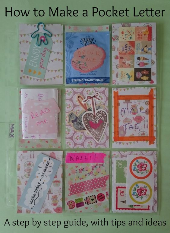 how to make a pocket letter, a step by step guide. Very pretty snail mail