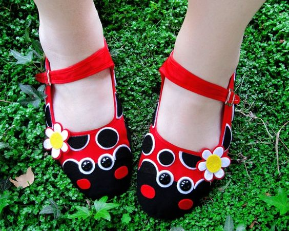 ladybug shoes.  In grown up sizes, not toddler.  I could totally see myself dressing up as the magic school bus teacher in these.