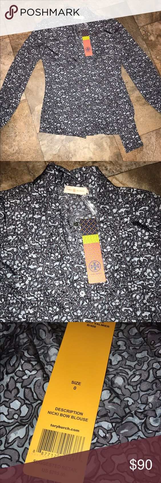 Tory burch shirt button up blouse NWT size 0 Tory burch shirt button up blouse NWT size 0 Tory Burch Tops Blouses
