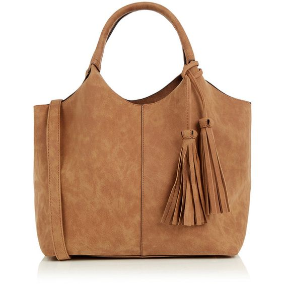 OASIS Maggie Tote ($48) ❤ liked on Polyvore featuring bags, handbags, tote bags, purses, natural, tote hand bags, handbags purses, tote purses, vegan tote and beige purse
