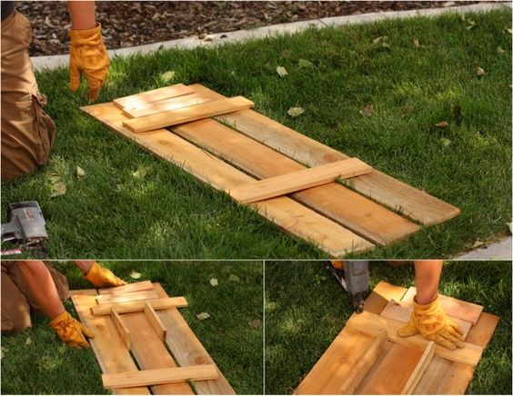 Make your own wood shutters for your house!  I would love to do this!!