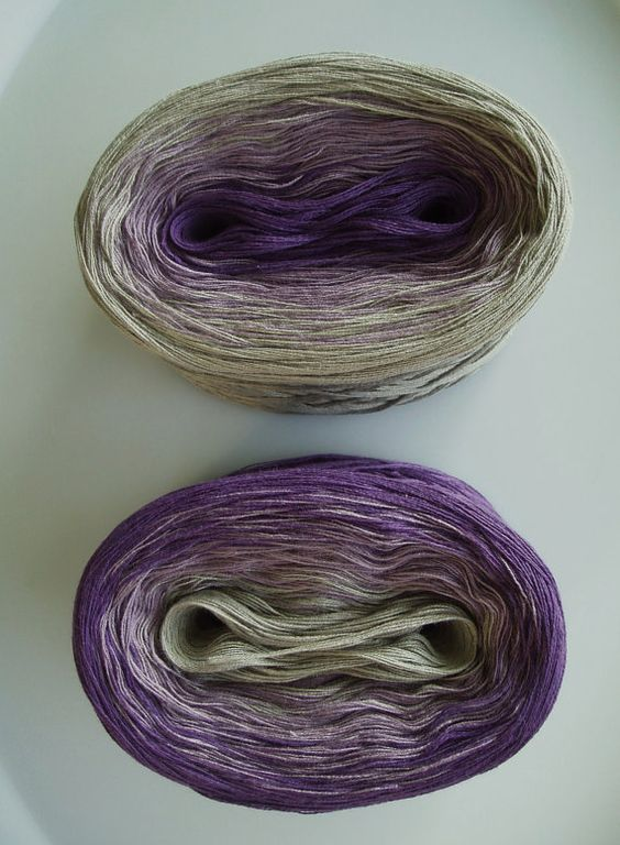 Love this! Wolle's Yarn Creations (Etsy)....Purples I and II.