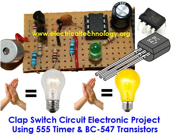 clap switch project Chapter 1introduction this is a project on clap switch which can switch on/off any electrical circuit bythe sound of a clap the operation of the circuit is simple if we clap the lamp turns on and to switchit off clap again.