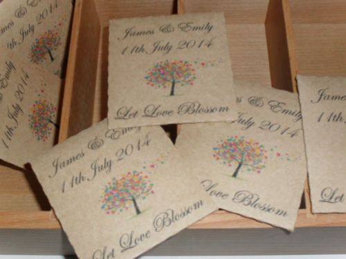 50 Personalised Wedding favour seed gifts,packets,envelopes,wedding ...