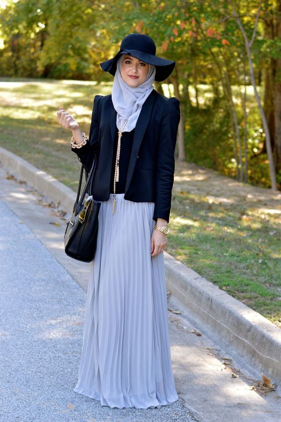 ... How to wear hijab fashion with hat ideas for stylish women (3) ...