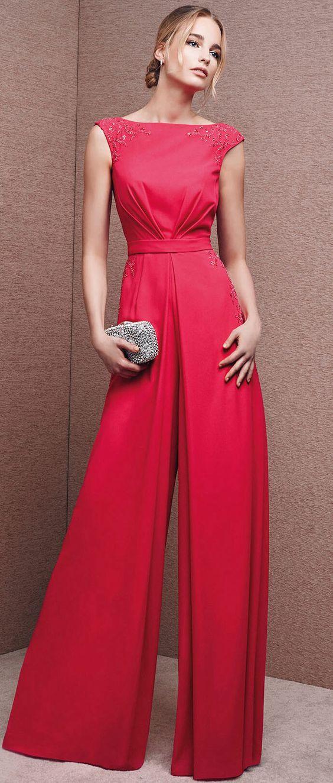 Red dress jumpsuit 2017