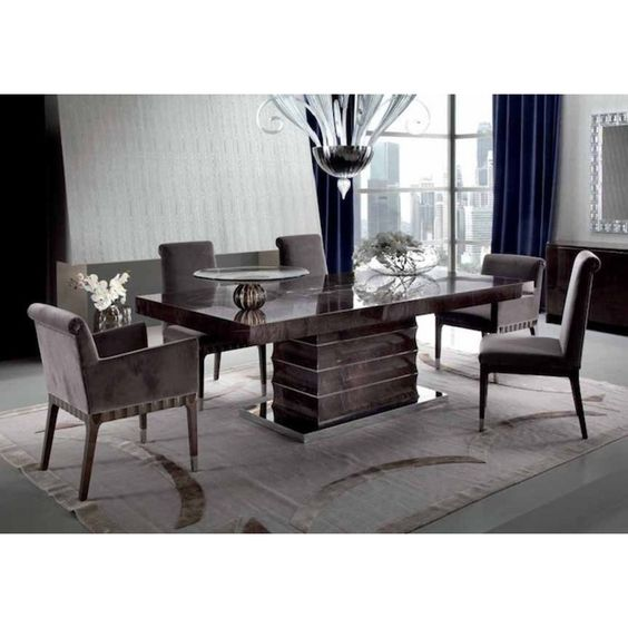 giorgio collection absolute dining set an art deco inspired beautifully crafted italian high gloss set luxury uberinteriors art deco dining table high