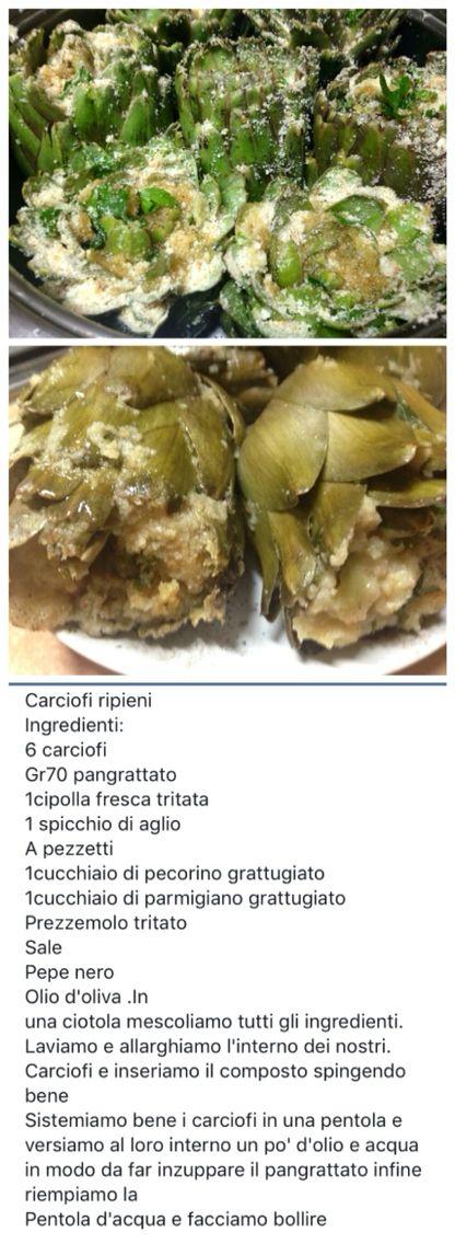 Carciofi ripieni (Cacocciuli chini)