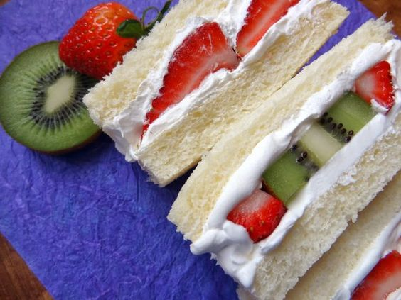 In Japan, there are dessert sandwiches that normally has a fruit and cream between two pieces of bread. Not usual for some but you will not regret eating it!