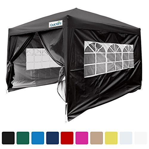 Quictent Silvox Waterproof 8x8 Ez Pop Up Canopy Gazebo Party Tent Black Photo Booth Portable Style You Can Find Out More Details At T Tent Party Tent Canopy