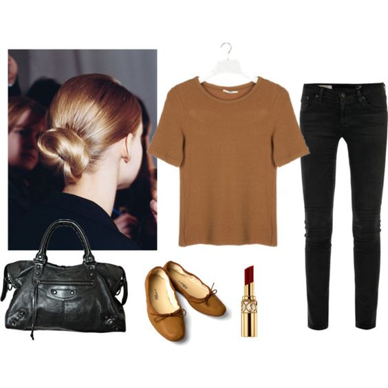 Summer outfit by trenchcoatandcoffee on Polyvore featuring polyvore, fashion, style, AG Adriano Goldschmied, Balenciaga, Yves Saint Laurent and Therapy