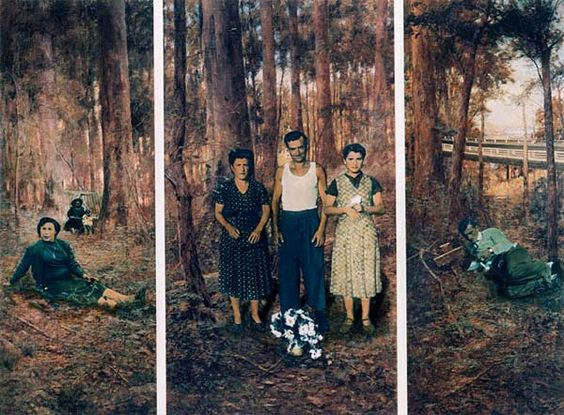 Anne Zahalka The Immigrants (second version), 1985 type C photograph 85.5 x 50 cm edition of 5  Courtesy of the artist and Roslyn Oxley9 Gallery: