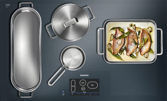 Put your pans wherever you want with a full surface induction cooktop-----DREAM.