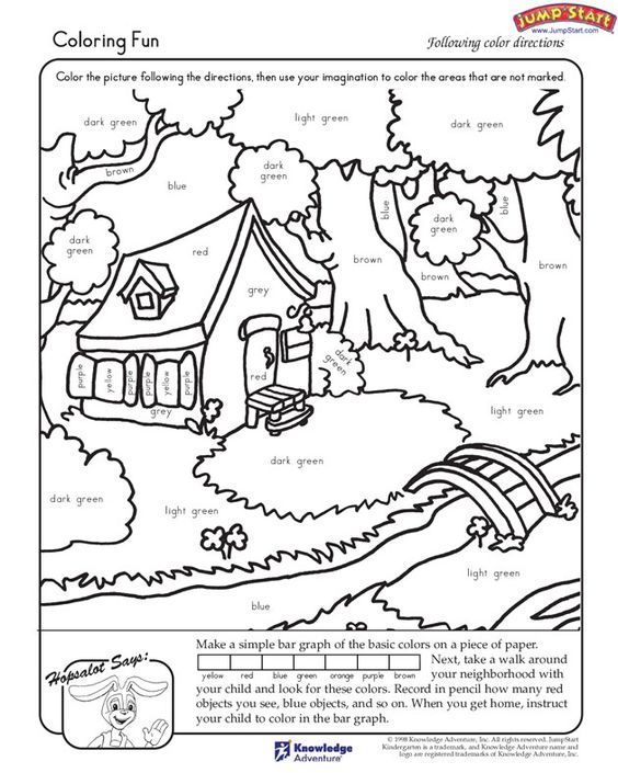 coloring fun kindergarten coloring worksheets for reading jumpstart education pinterest. Black Bedroom Furniture Sets. Home Design Ideas