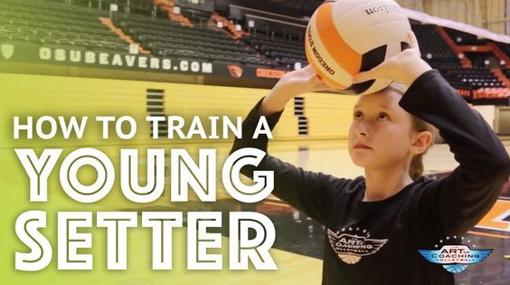 Setting Teaching The Fundamentals To A Young Player Volleyball Workouts Volleyball Skills Volleyball Training