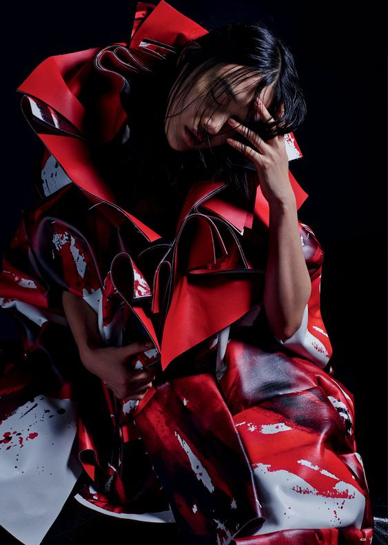 comme des garçons: natalie westling, grace hartzel, roos abels and sora choi by mario sorrenti for love #13 spring / summer 2015 | visual optimism; fashion editorials, shows, campaigns & more!