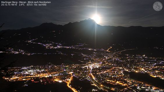 #merano #luna #notte #night #light #fullmoon