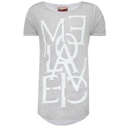 Cooles graues #T-Shirt von #Review. Im angesagtem #Vintagelook ist dieses T-Shirt ein echter #Hingucker. ♥ ab 19,95 €